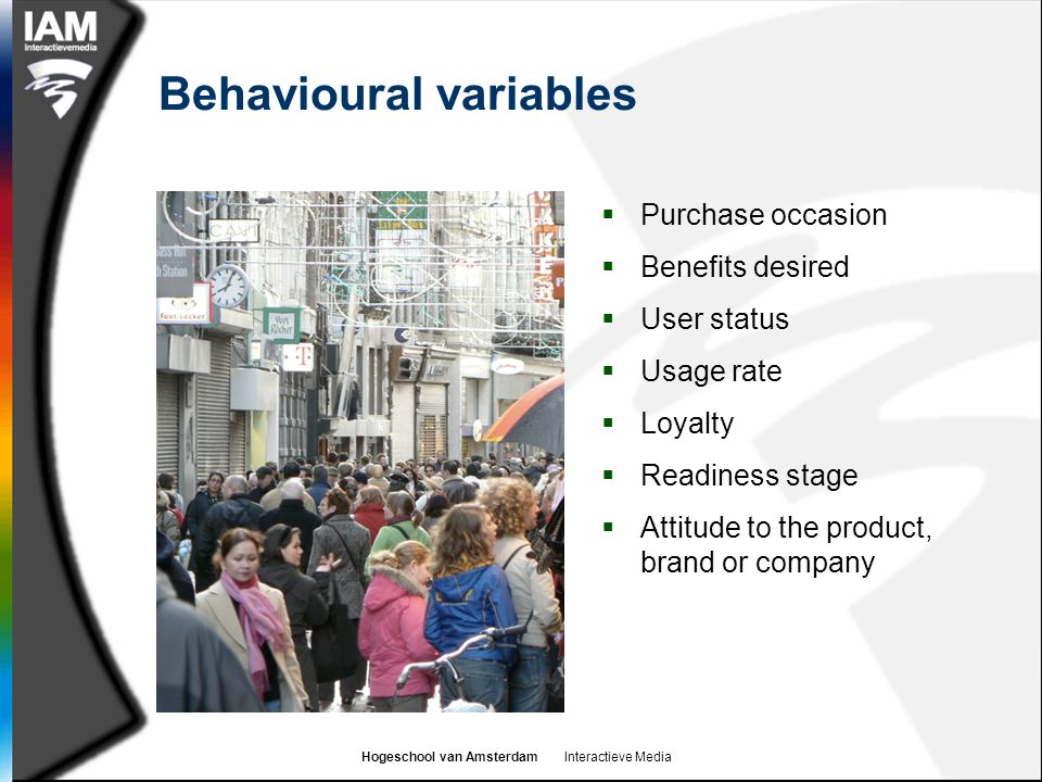 Behavioural variables
