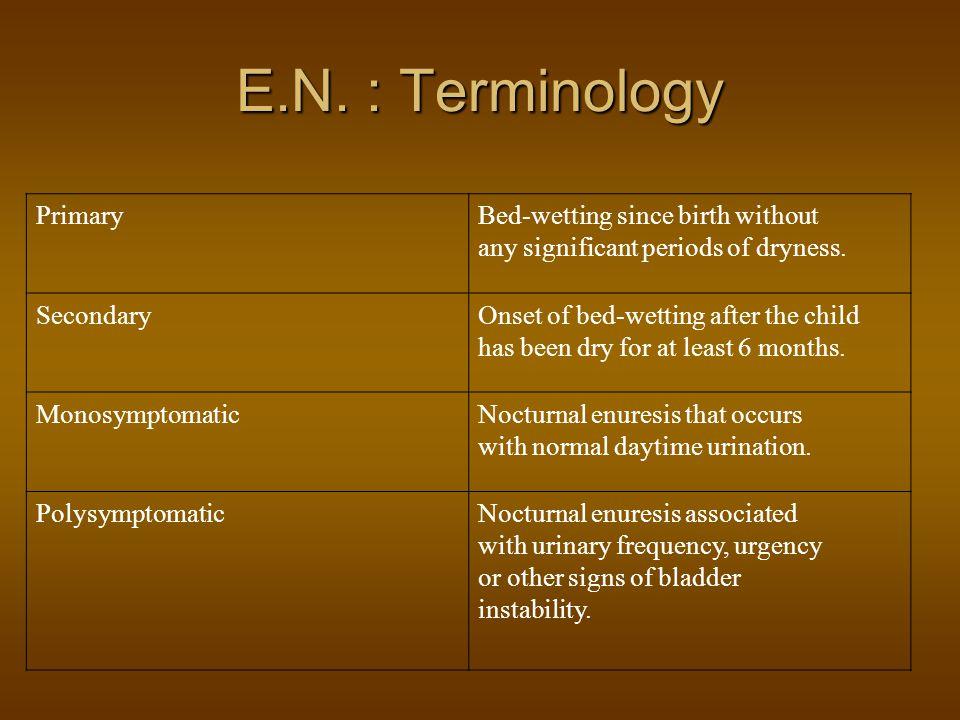 E.N. : Terminology Primary