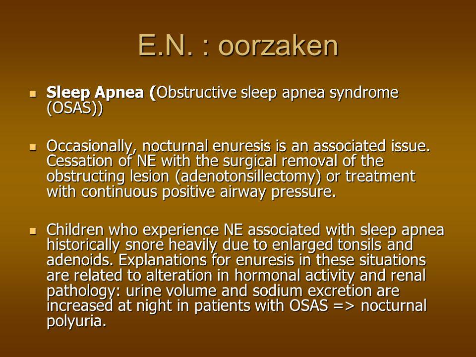 E.N. : oorzaken Sleep Apnea (Obstructive sleep apnea syndrome (OSAS))