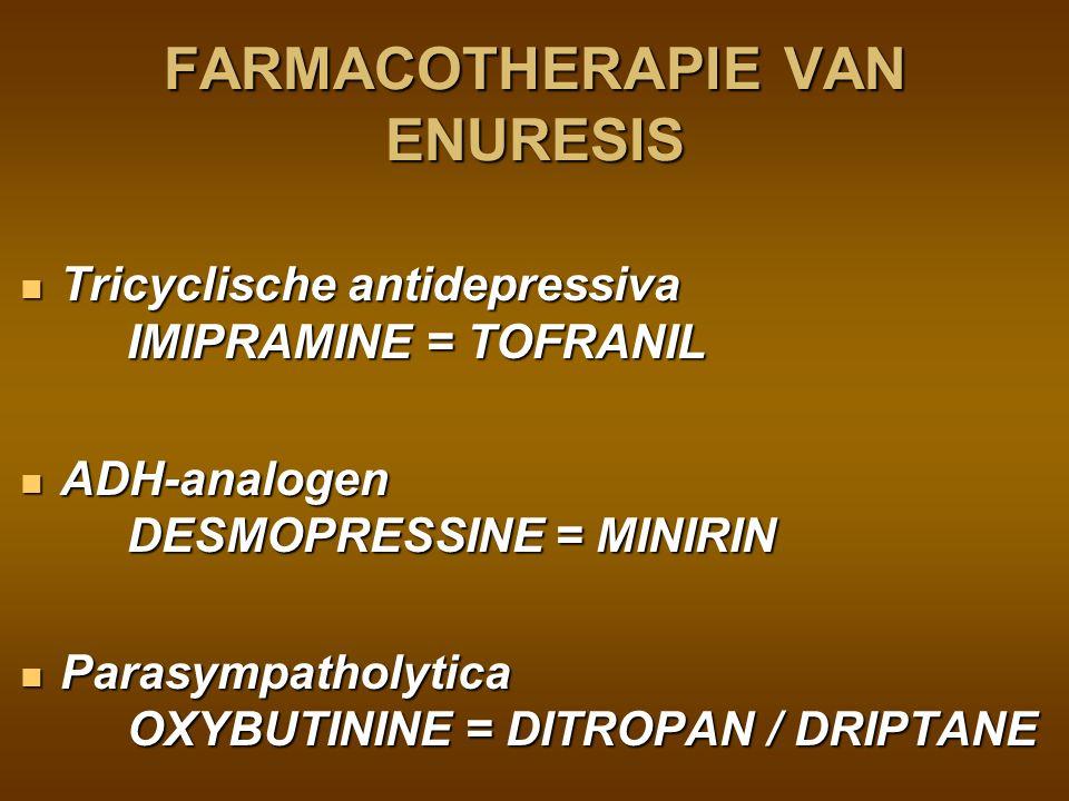FARMACOTHERAPIE VAN ENURESIS