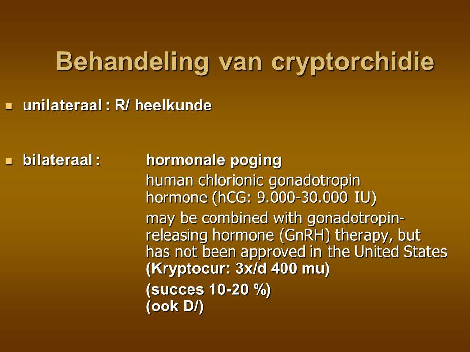 Behandeling van cryptorchidie