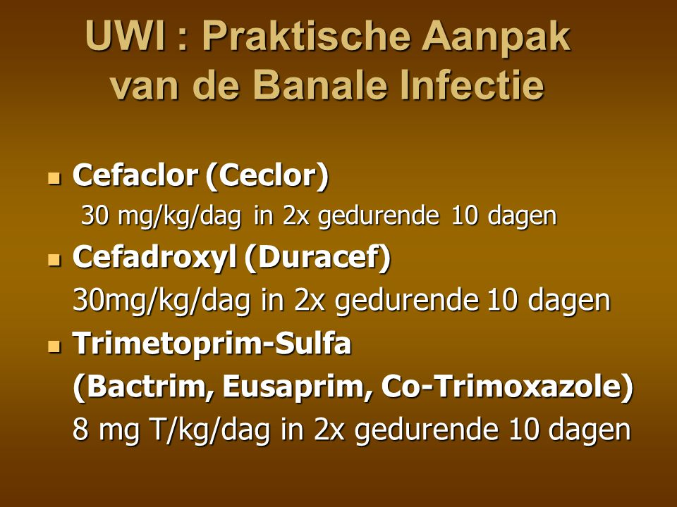 UWI : Praktische Aanpak van de Banale Infectie
