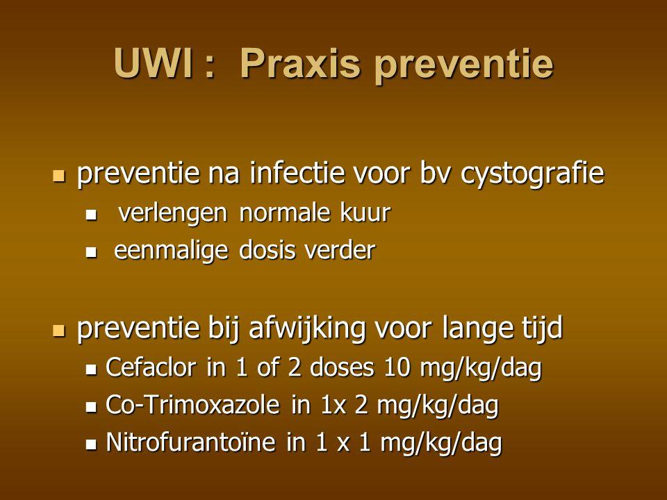 UWI : Praxis preventie preventie na infectie voor bv cystografie