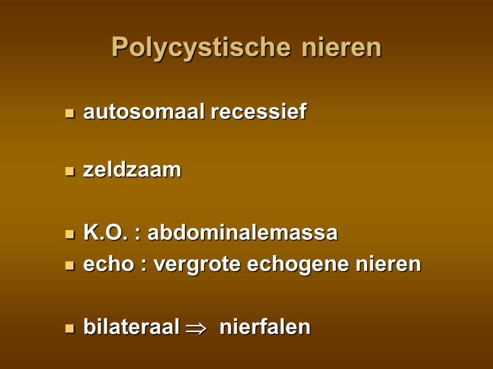 Polycystische nieren autosomaal recessief zeldzaam