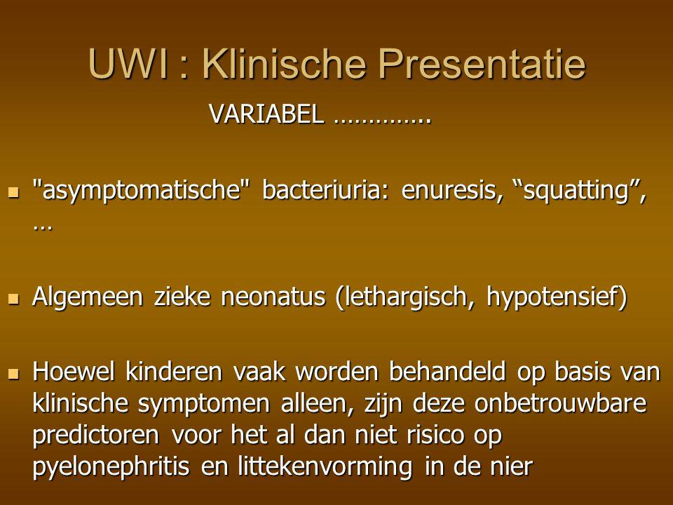 UWI : Klinische Presentatie