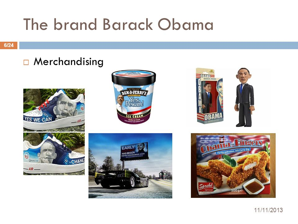 The brand Barack Obama Merchandising 25/03/2017