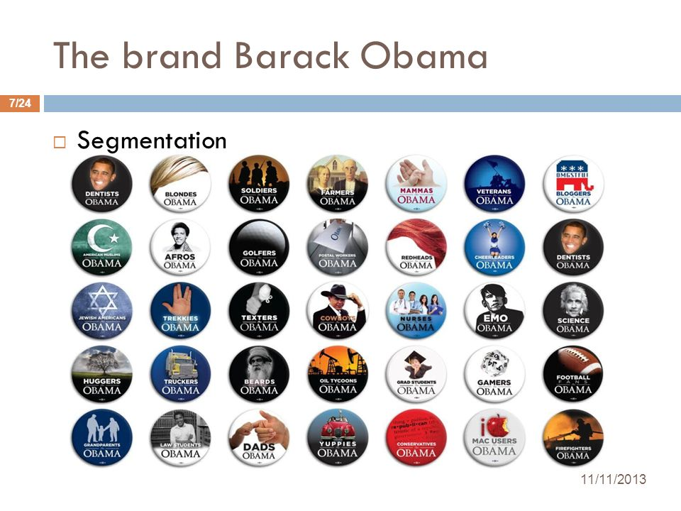 The brand Barack Obama Segmentation 25/03/2017