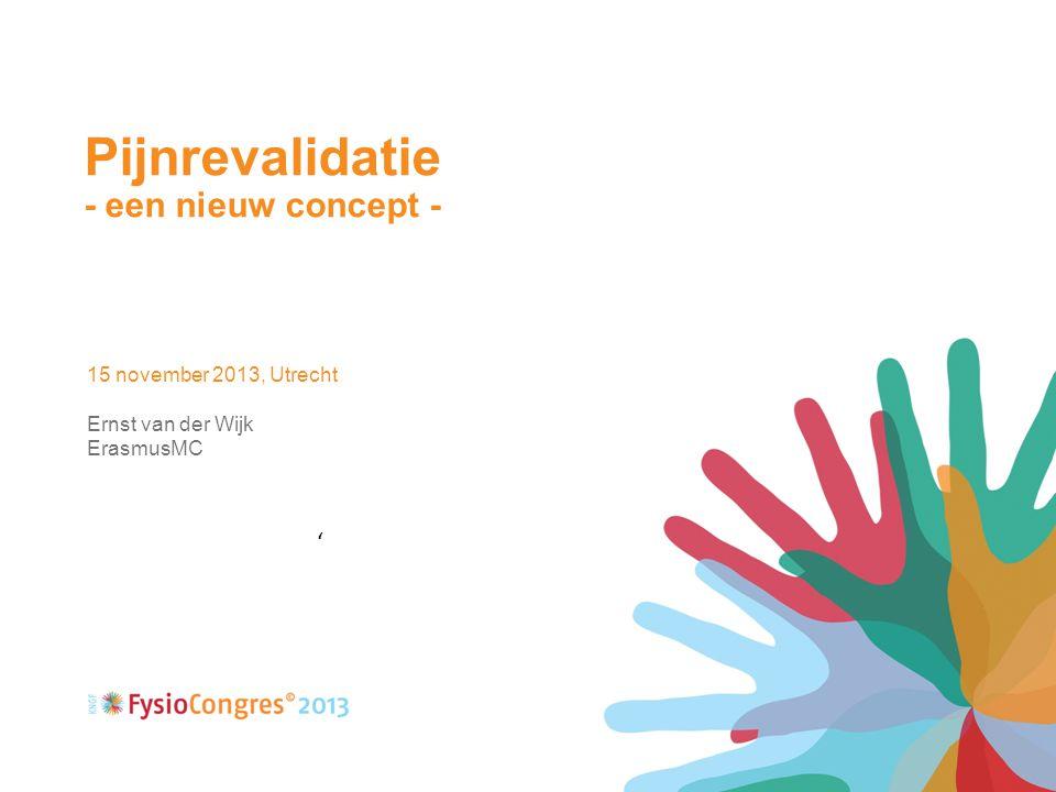 Pijnrevalidatie - een nieuw concept - ' 15 november 2013, Utrecht