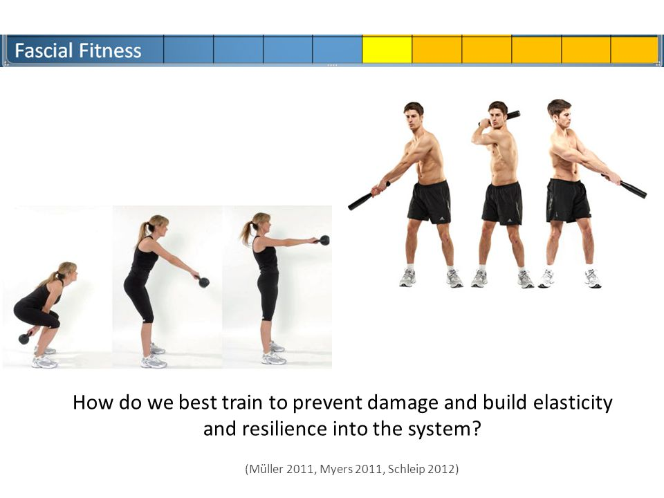 How do we best train to prevent damage and build elasticity and resilience into the system