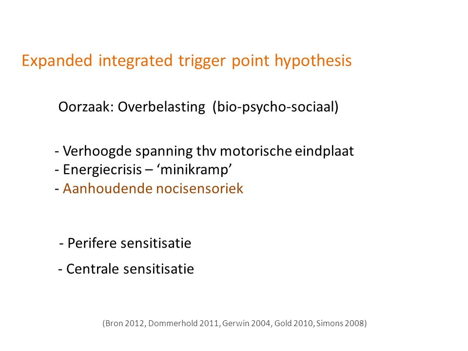 Expanded integrated trigger point hypothesis