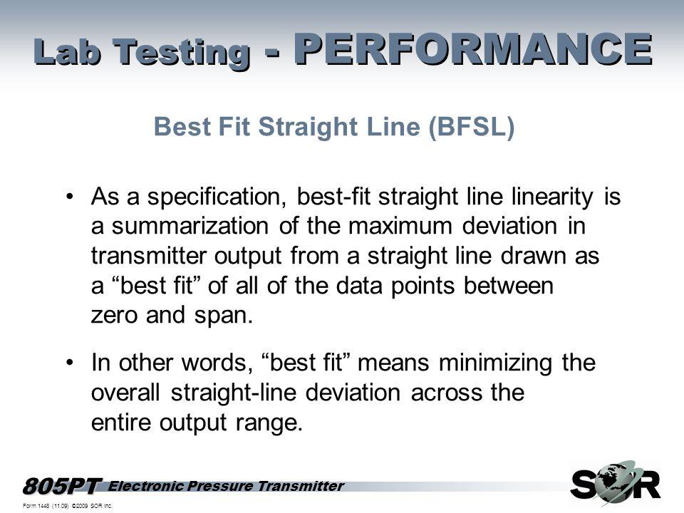 Best Fit Straight Line (BFSL)