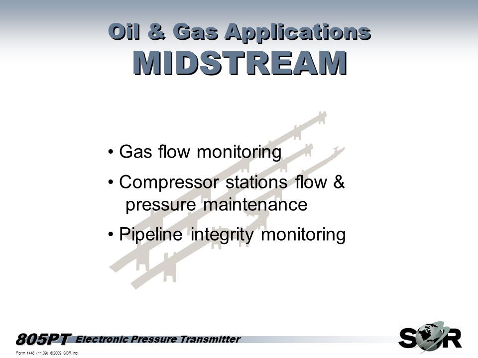 MIDSTREAM Oil & Gas Applications • Gas flow monitoring