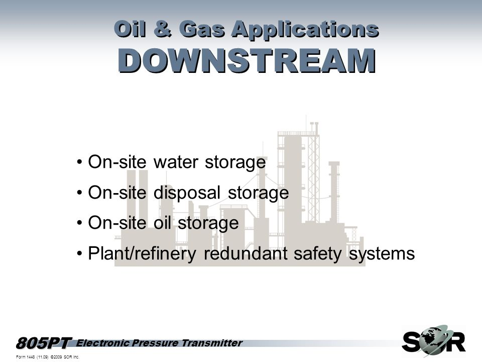 DOWNSTREAM Oil & Gas Applications • On-site water storage