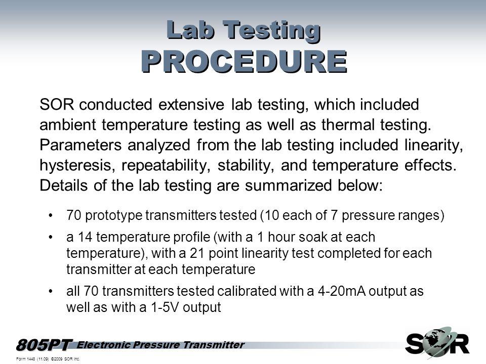 Lab Testing PROCEDURE.