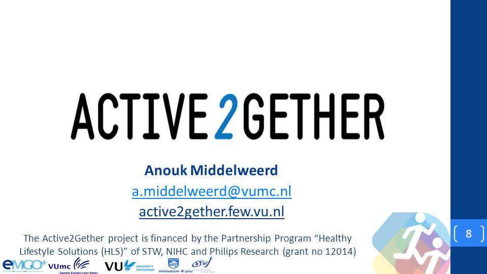 Anouk Middelweerd a.middelweerd@vumc.nl active2gether.few.vu.nl