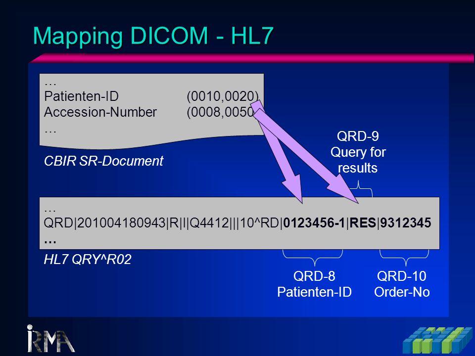 Mapping DICOM - HL7 … Patienten-ID (0010,0020)