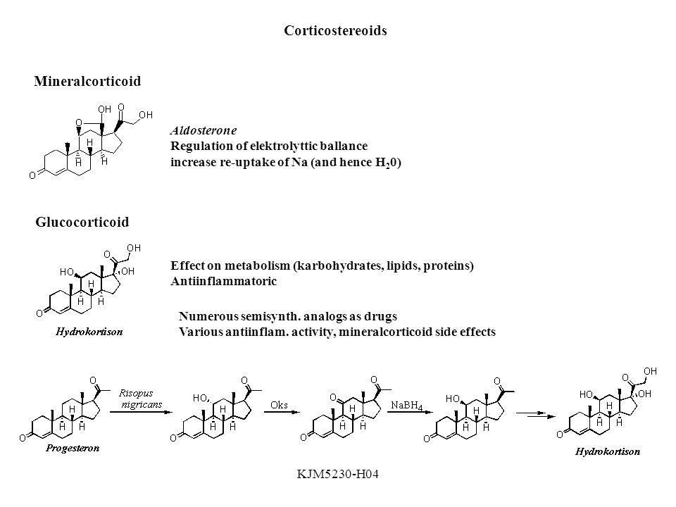 Corticostereoids Mineralcorticoid Glucocorticoid Aldosterone