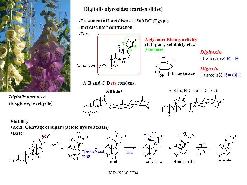 Digitalis glycosides (cardenolides)