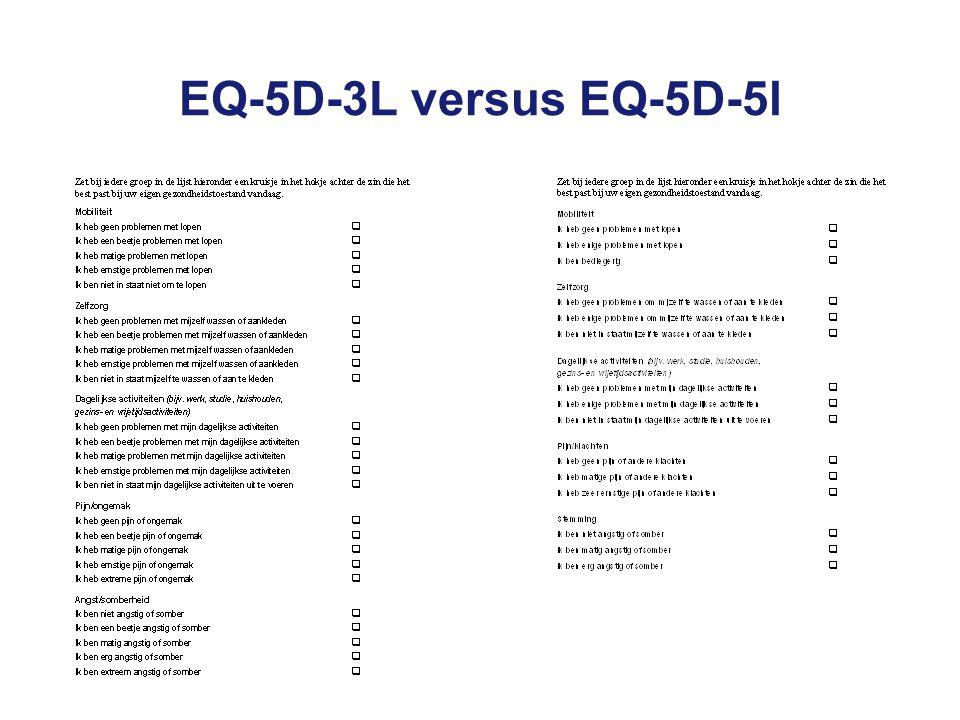 EQ-5D-3L versus EQ-5D-5l