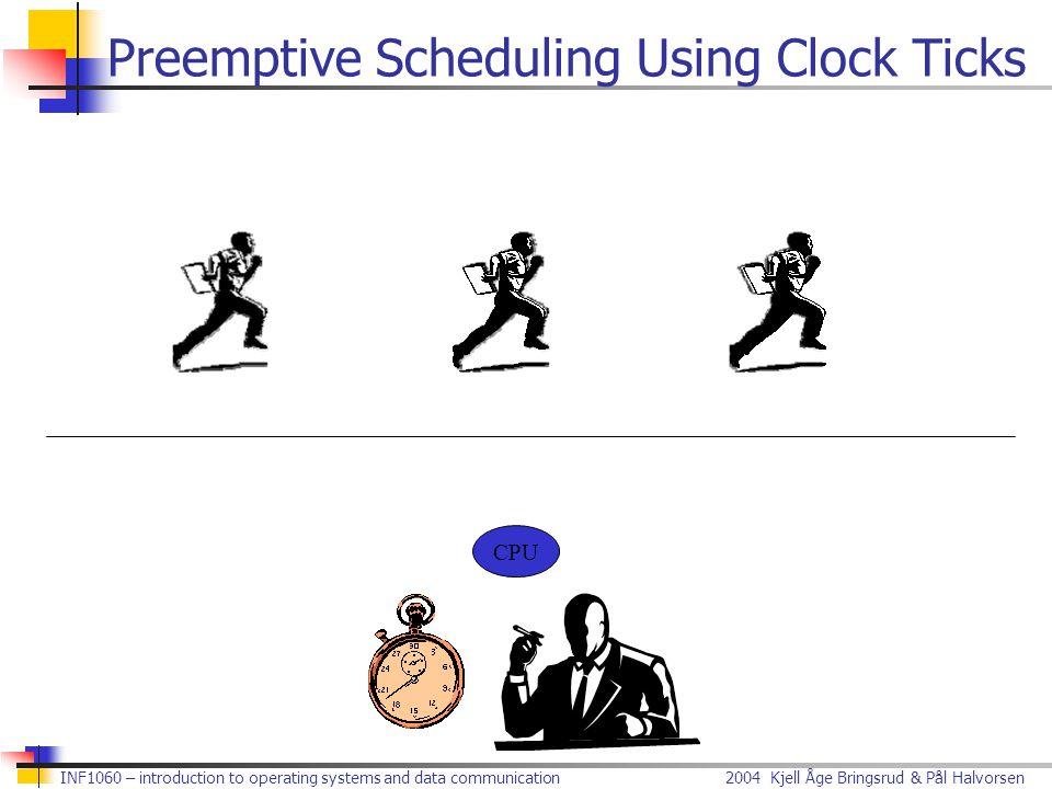 Preemptive Scheduling Using Clock Ticks