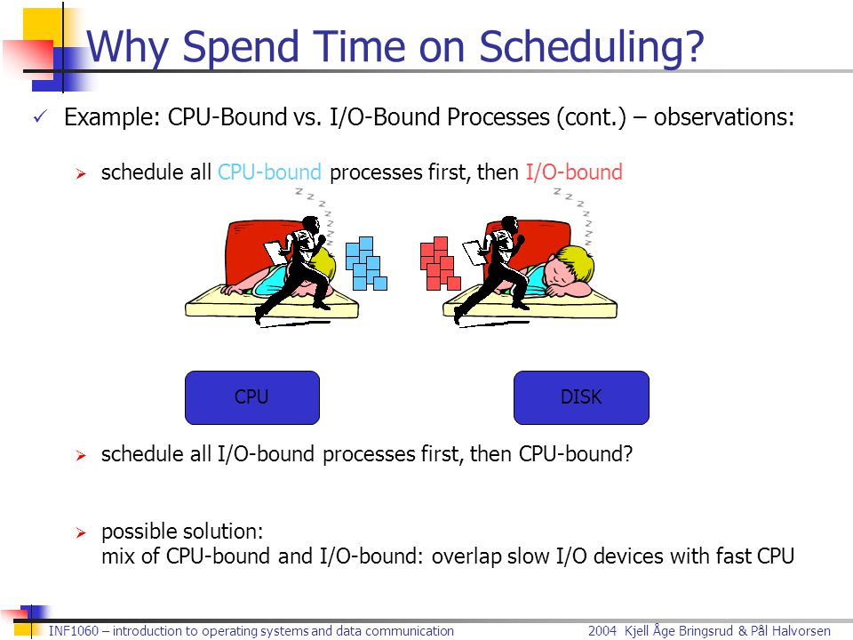 Why Spend Time on Scheduling