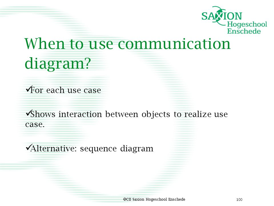 When to use communication diagram