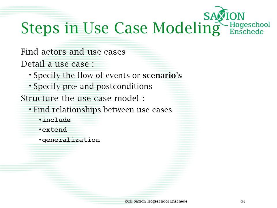 Steps in Use Case Modeling