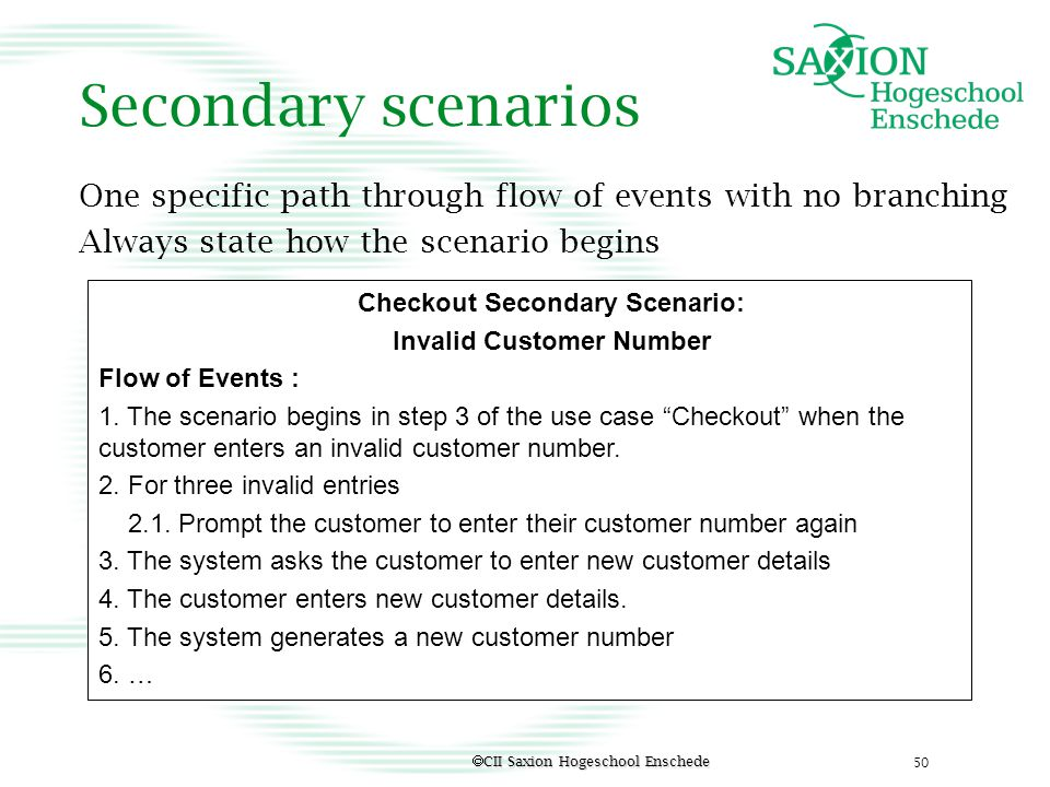 Checkout Secondary Scenario: Invalid Customer Number