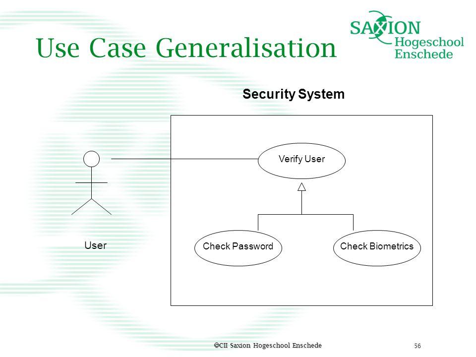 Use Case Generalisation
