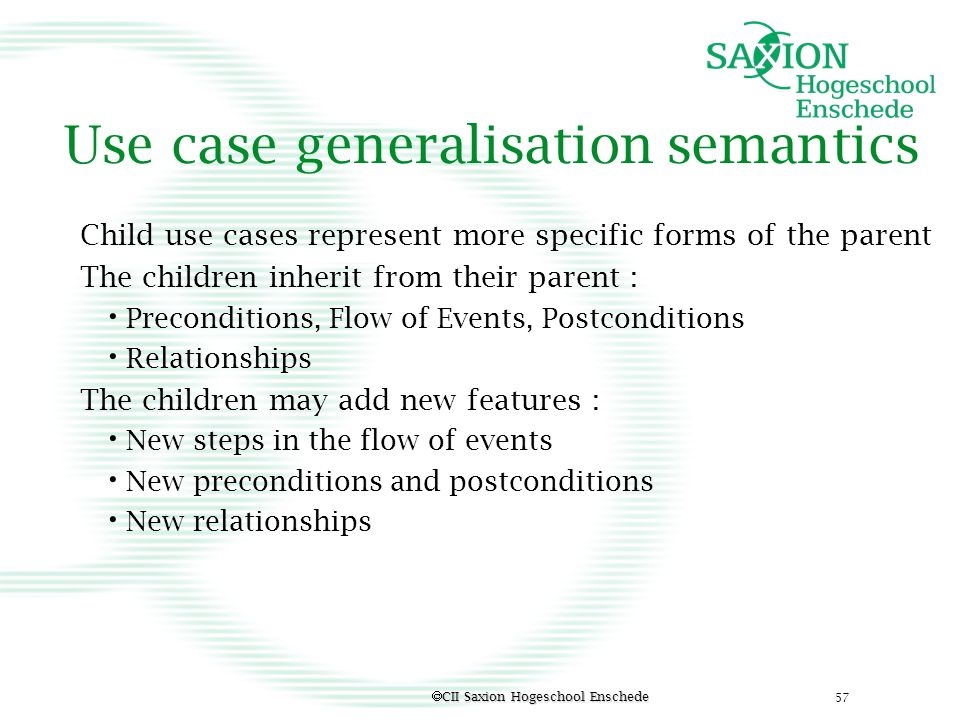 Use case generalisation semantics