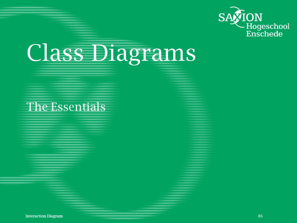 Class Diagrams The Essentials Interaction Diagram