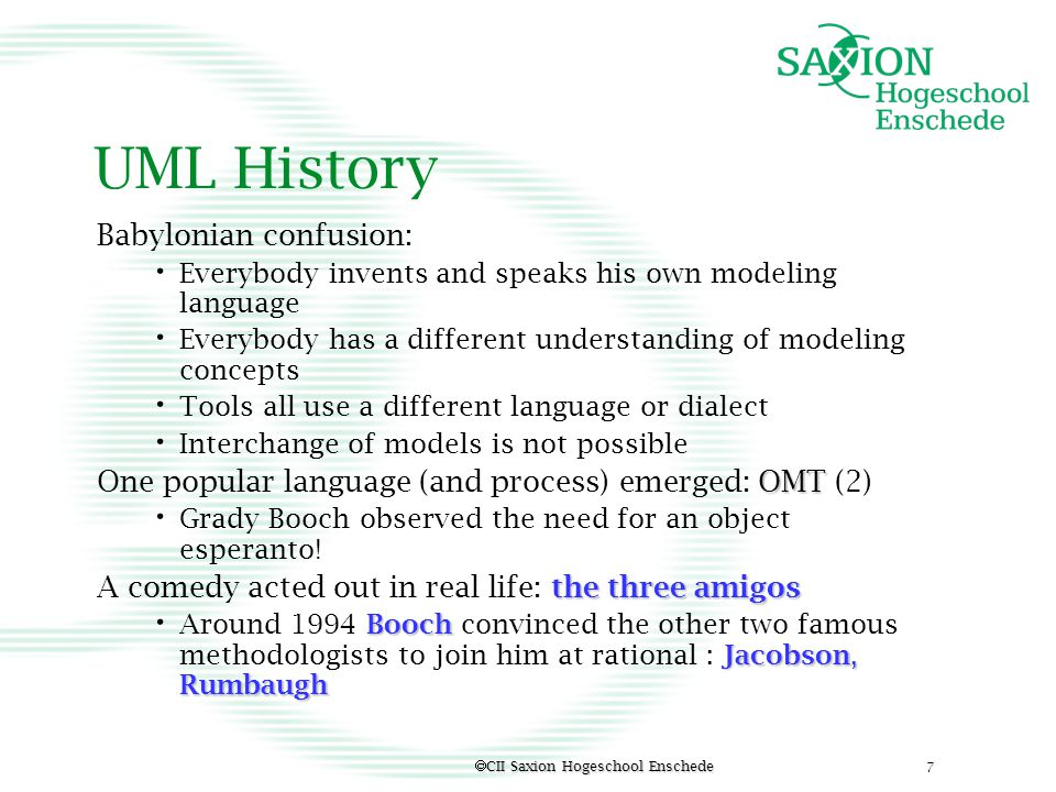 UML History Babylonian confusion: