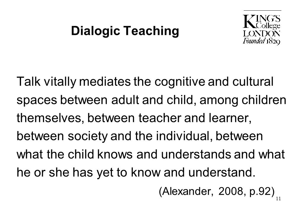 Dialogic Teaching
