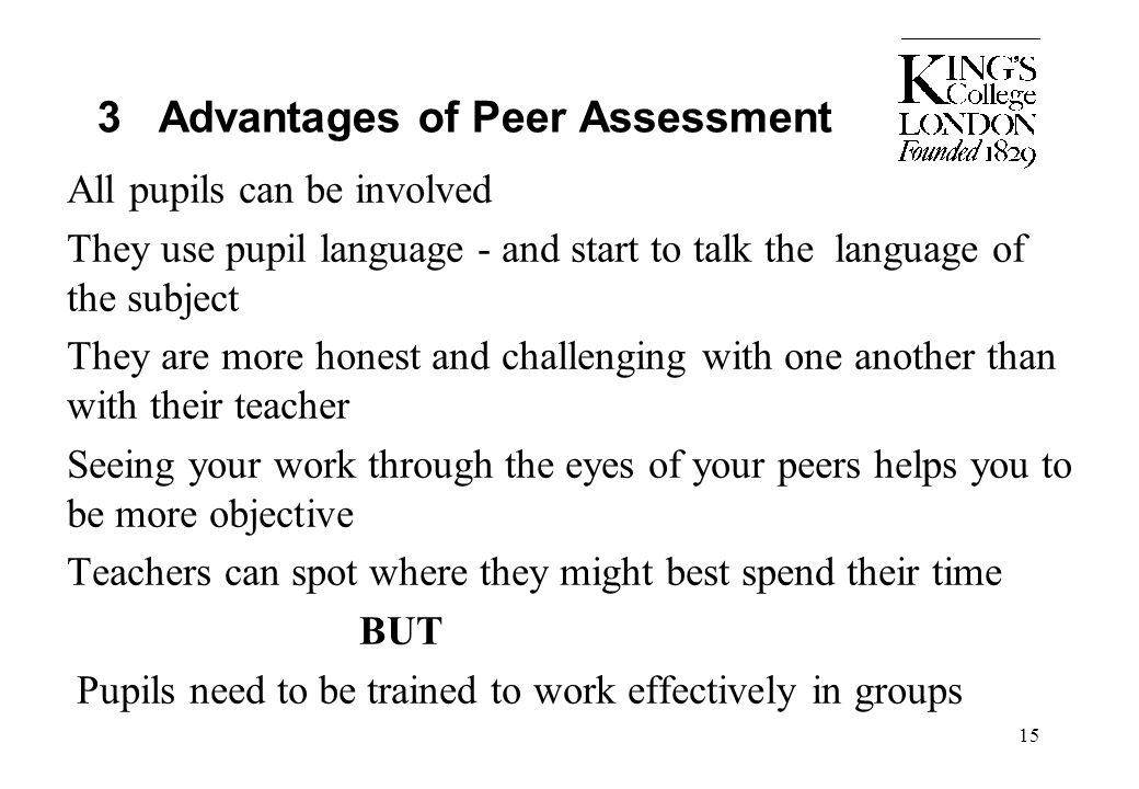3 Advantages of Peer Assessment