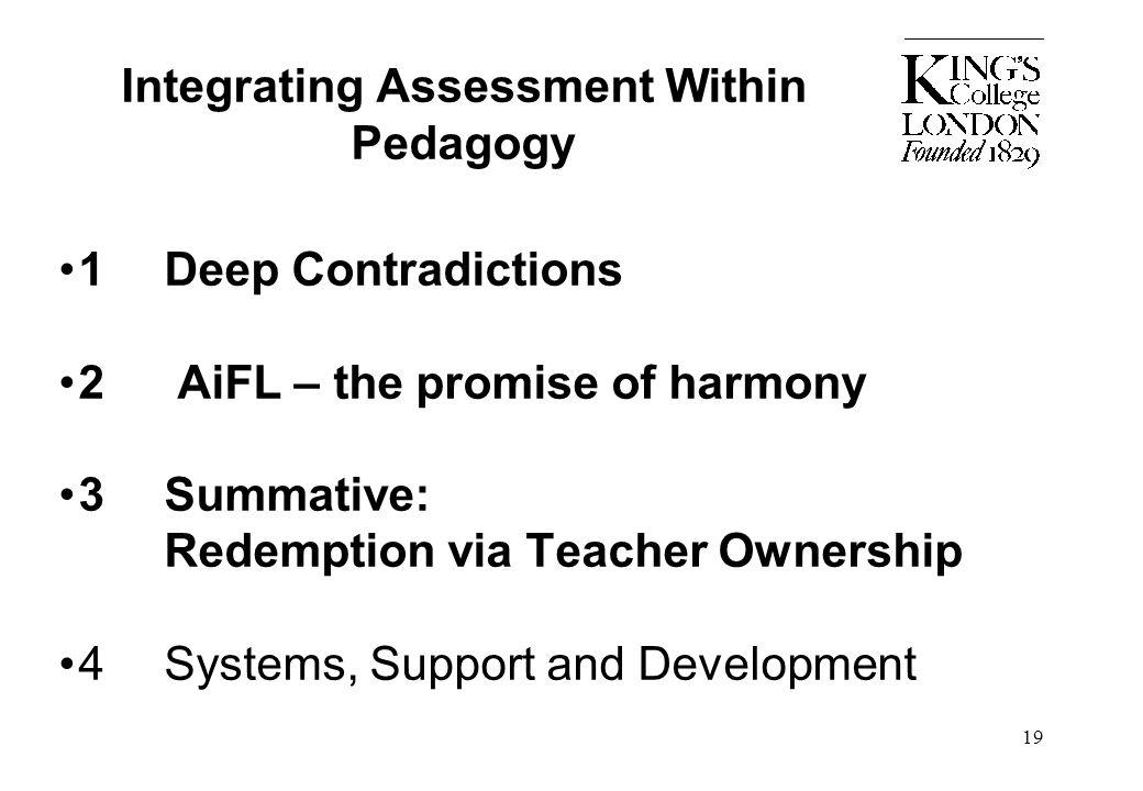 Integrating Assessment Within Pedagogy