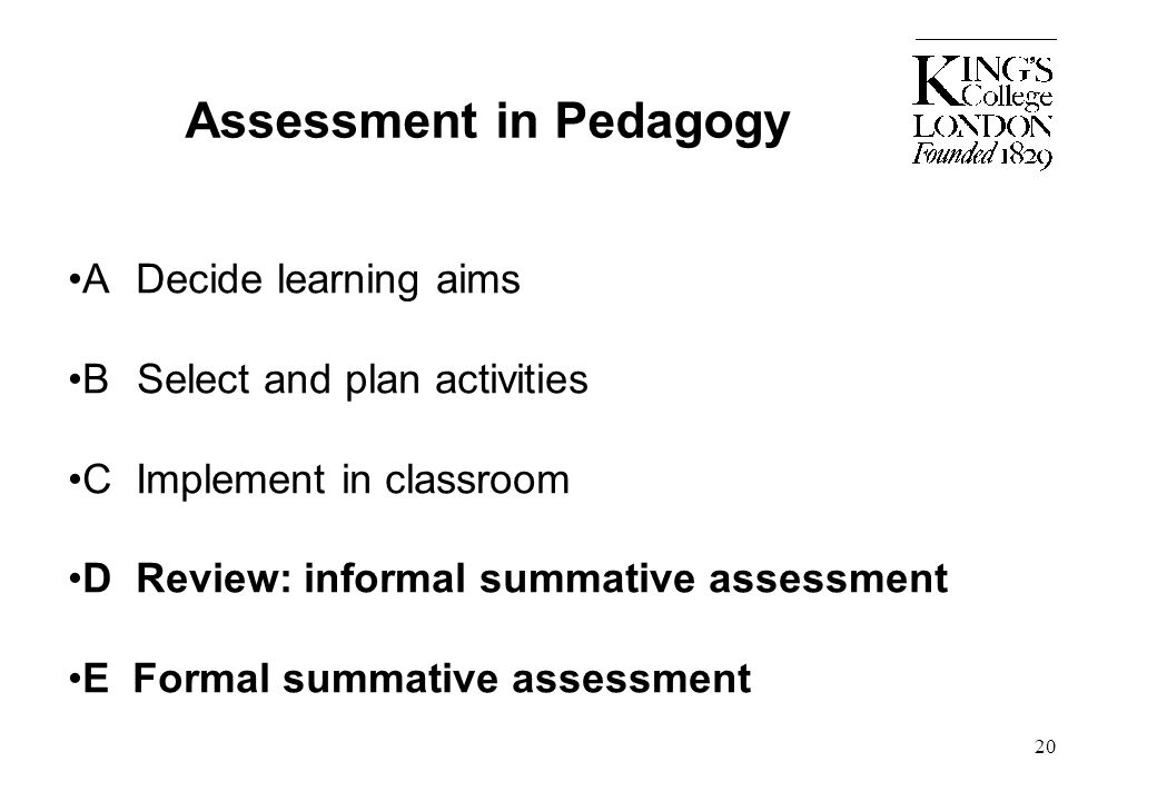 Assessment in Pedagogy