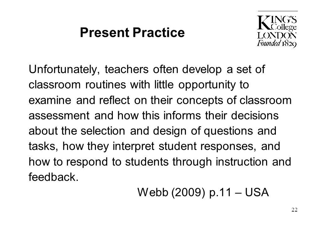 Present Practice