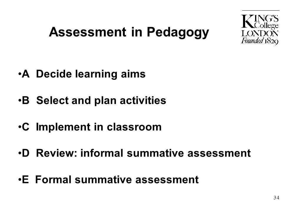 Assessment in Pedagogy