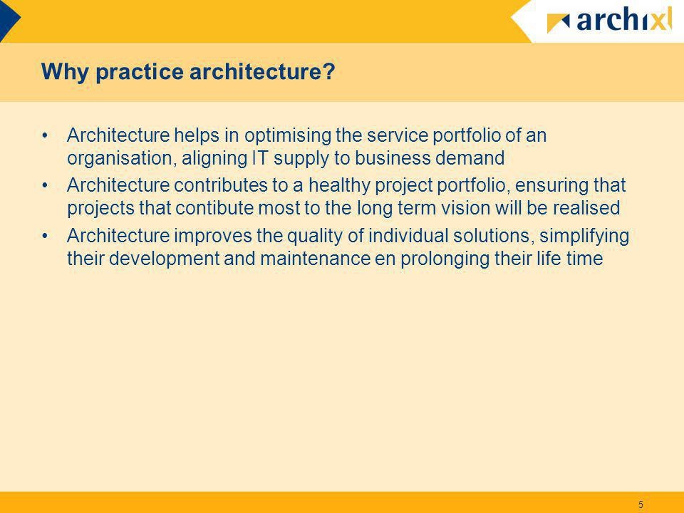 Why practice architecture