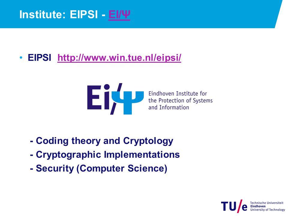Institute: EIPSI - EI/Ψ