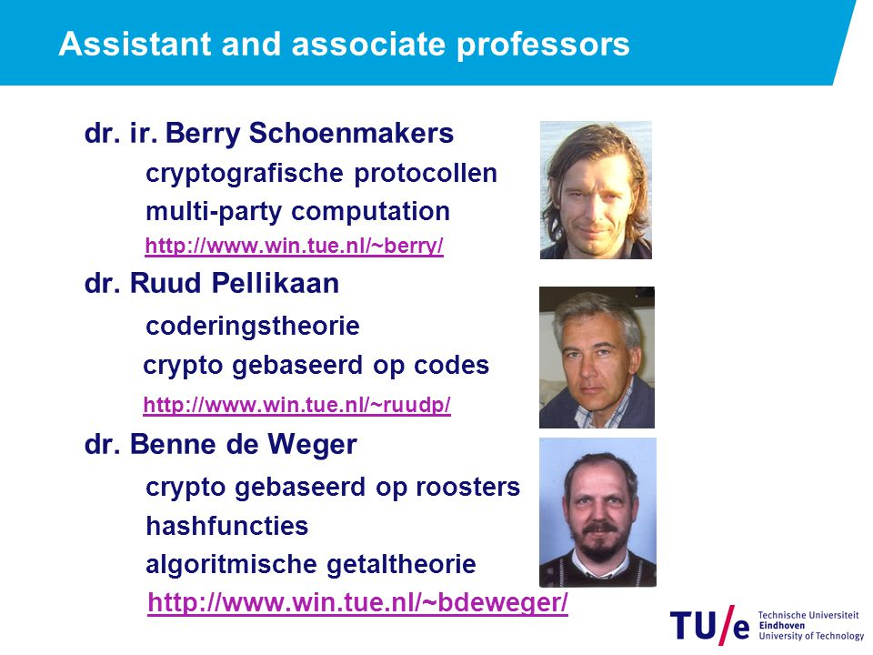 Assistant and associate professors