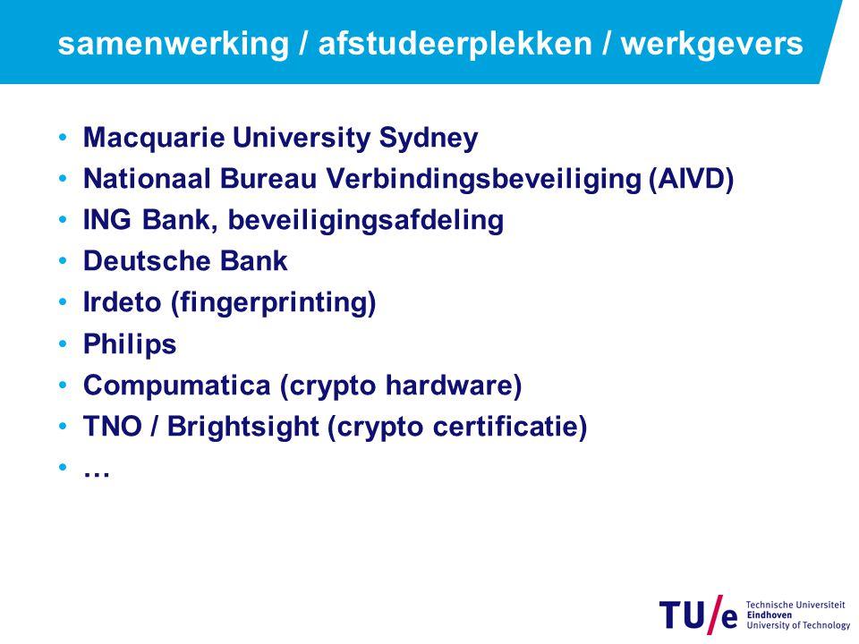 samenwerking / afstudeerplekken / werkgevers