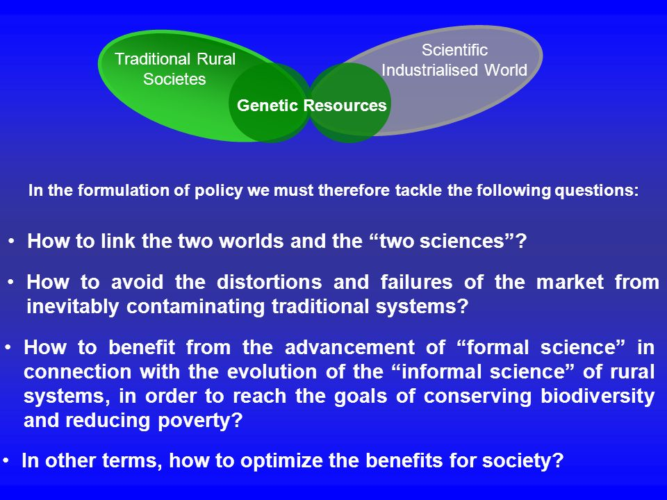 How to link the two worlds and the two sciences