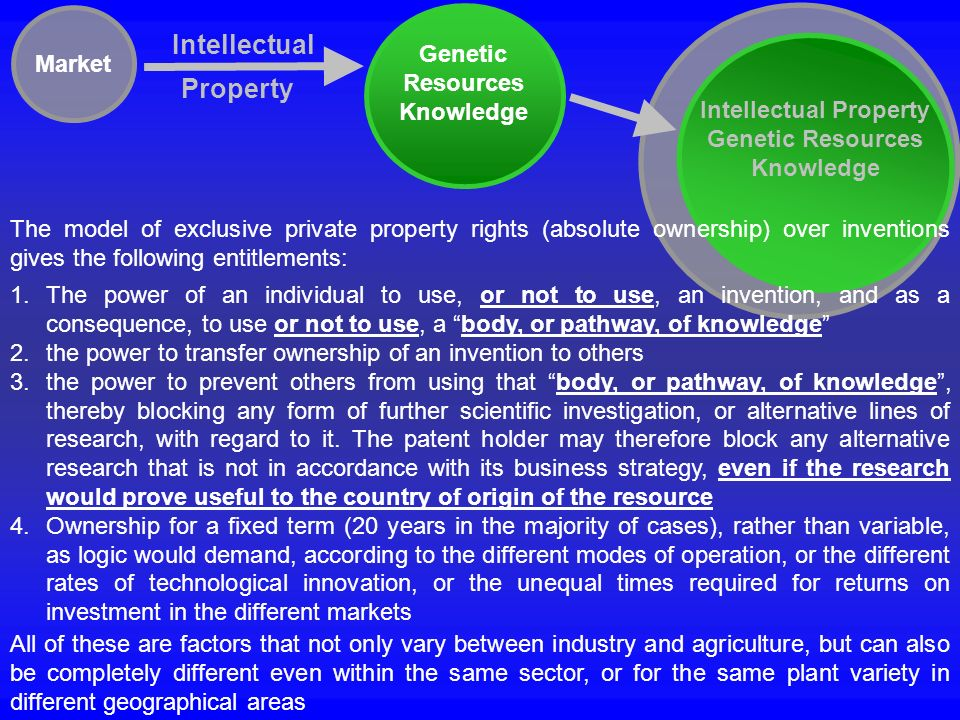 Genetic Resources Knowledge Intellectual Property