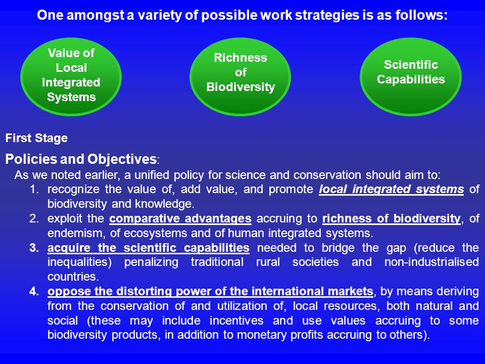 One amongst a variety of possible work strategies is as follows: