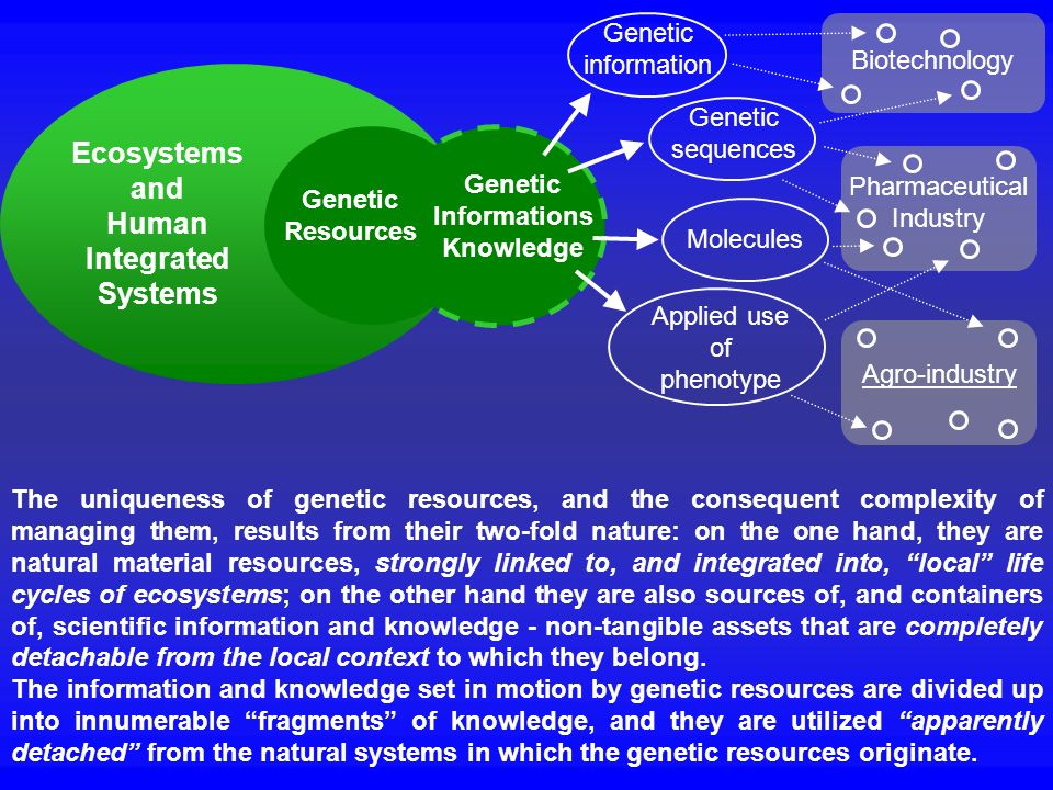 Ecosystems and Human Integrated Systems Genetic Informations Knowledge