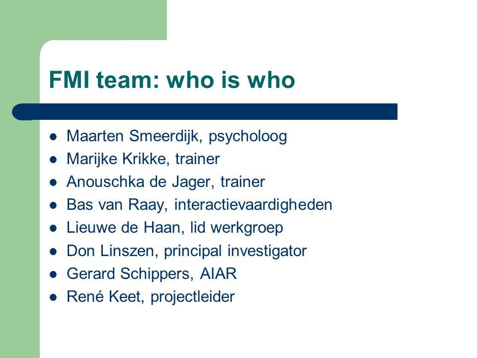FMI team: who is who Maarten Smeerdijk, psycholoog