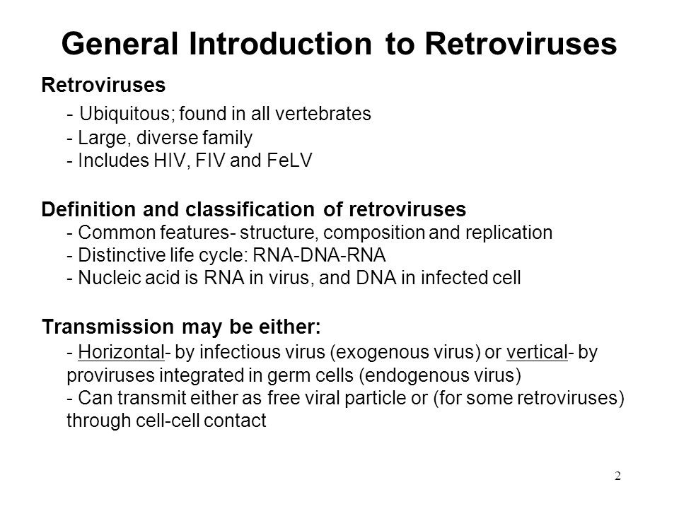 General Introduction to Retroviruses