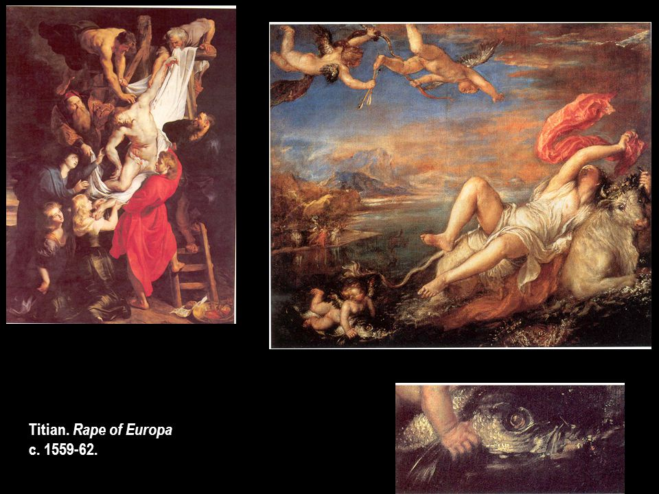 Titian. Rape of Europa c. 1559-62.