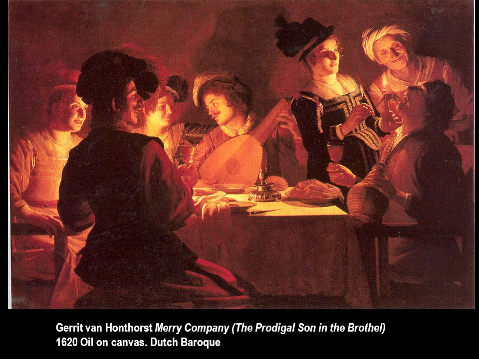 Gerrit van Honthorst Merry Company (The Prodigal Son in the Brothel)